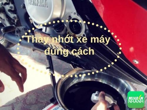 Đừng quên thay nhớt xe máy kẻo làm hỏng xe mà không biết