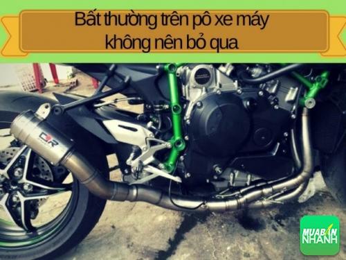 Bất thường trên pô xe máy không nên bỏ qua