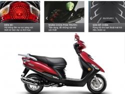 Xe tay ga Suzuki UA 125T tôn vẻ thanh lịch phái đẹp nên mua