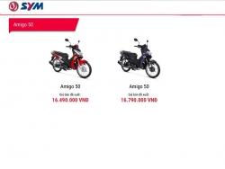 SYM ra mắt Amigo 50: Xe máy rẻ nhất Việt Nam, đi xe không cần bằng lái