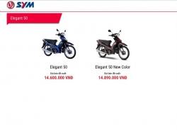 Elegant 50 - mẫu xe bán tốt nhất của SYM ở Việt Nam