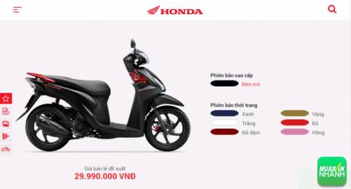 Mua xe Honda Vision 2016 trả góp