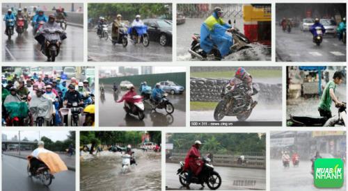 Cách phanh xe máy an toàn cho bạn khi liên tục đi trong trời mưa